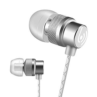 Beevo EM300 Fülben Vezetékes Fejhallgatók Dinamikus Aluminum Alloy Mobiltelefon Fülhallgató Mikrofonnal A hangerőszabályzóval Fejhallgató