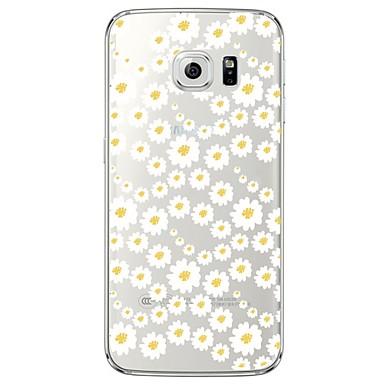 용 Samsung Galaxy S7 Edge 투명 / 패턴 케이스 뒷면 커버 케이스 꽃장식 소프트 TPU Samsung S7 edge / S7 / S6 edge plus / S6 edge / S6 / S5 / S4