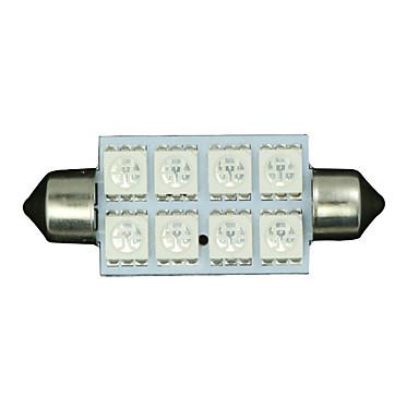 10 x 42mm ultra blauw 5050 festoen koepel kaart interieur LED lamp 211-2 578 569