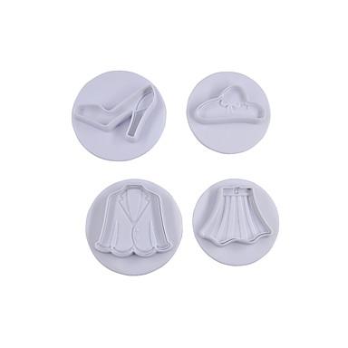 4 Sütés tortát díszítő / Sütés eszköz Torta Műanyag Sütőformák
