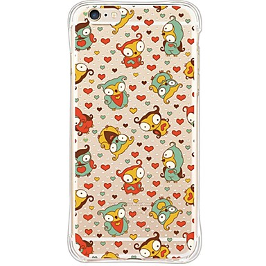 Mert iPhone 6 tok / iPhone 6 Plus tok Vízálló / Ütésálló / Porálló / Átlátszó Case Hátlap Case Bagoly Puha TPU AppleiPhone 6s Plus/6 Plus