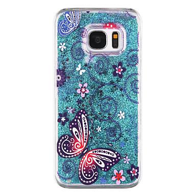 용 Samsung Galaxy S7 Edge 플로잉 리퀴드 / 투명 / 패턴 케이스 뒷면 커버 케이스 버터플라이 하드 PC Samsung S7 edge / S7