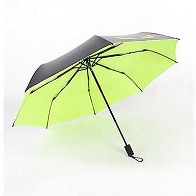 Zöld / Kék / Pink / Sárga Összecsukható esernyő Sunny és Rainy Gumi Nő / Férfi