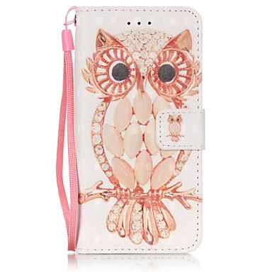 Mert iPhone 6 tok / iPhone 6 Plus tok Pénztárca / Kártyatartó / Állvánnyal Case Teljes védelem Case Bagoly Puha Műbőr AppleiPhone 6s