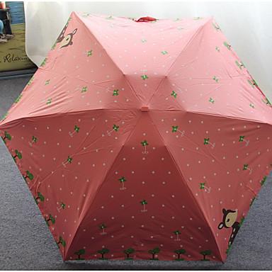 umbrella 탄성 고무 써니와 비오는 접는 우산