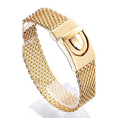 Férfi Lánc & láncszem karkötők Divat Rozsdamentes acél Arannyal bevont 18K arany Geometric Shape Ékszerek Karácsonyi ajándékok Jelmez