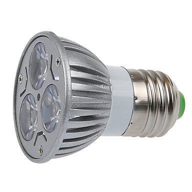 e26 / e27 led 스포트 라이트 mr16 3 smd 250lm 따뜻한 흰색 2700k 장식 ac 220-240v