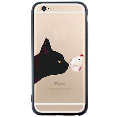 Mert iPhone 6 tok / iPhone 6 Plus tok Minta Case Hátlap Case Cica Puha TPU Apple iPhone 6s Plus/6 Plus / iPhone 6s/6 / iPhone SE/5s/5