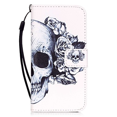 Case For Apple iPhone X iPhone 8 iPhone 6 iPhone 7 Plus iPhone 7 Card Holder Pattern Full Body Cases Skull Hard PU Leather for iPhone X
