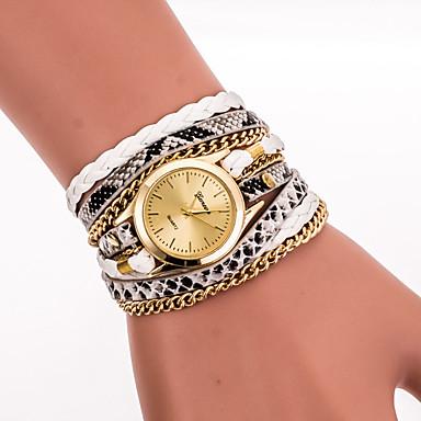 Women's Ladies Bracelet Watch Wrist Watch Quartz Wrap Black / White / Blue Cool Analog Vintage Casual Bohemian Fashion - Red Blue Pink One Year Battery Life / Stainless Steel