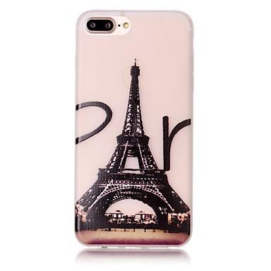 용 아이폰7케이스 / 아이폰7플러스 케이스 / 아이폰6케이스 야광 / 패턴 케이스 뒷면 커버 케이스 에펠탑 소프트 TPU Apple아이폰 7 플러스 / 아이폰 (7) / iPhone 6s Plus/6 Plus / iPhone 6s/6 /