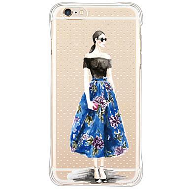 용 아이폰6케이스 아이폰6플러스 케이스 케이스 커버 충격방지 패턴 뒷면 커버 케이스 섹시 레이디 소프트 TPU 용 Apple iPhone 6s Plus iPhone 6 Plus iPhone 6s 아이폰 6 iPhone SE/5s iPhone 5