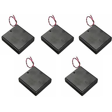 5db 4 AA elem fedelét kapcsolóval, vörös és fekete vezetéket az 5. elem tartó