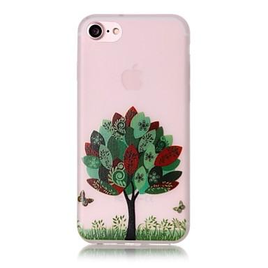 Mert iPhone 7 tok / iPhone 7 Plus tok / iPhone 6 tok Foszforeszkáló / Minta Case Hátlap Case Fa Puha TPU AppleiPhone 7 Plus / iPhone 7 /