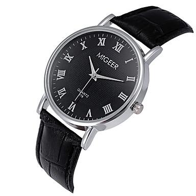 Męskie Kwarcowy Zegarek na nadgarstek / Na codzień Skóra Pasmo Na co dzień Nowoczesne Czarny Brązowy