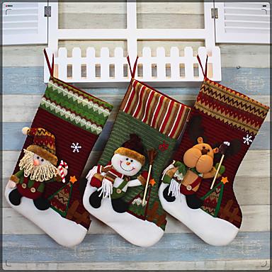 크리스마스 양말 크리스마스 날 크리스마스 양말 크리스마스 스타킹을 공급 산타 양말 장식품