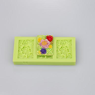 négyzet alakú gyönyörű szilikon penész muffin serpenyő szappan penész torta dekoráció készlet ramdon színes