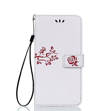 Mert LG tok Kártyatartó / Flip / Dombornyomott Case Teljes védelem Case Virág Kemény Műbőr LG LG G5 / LG G4