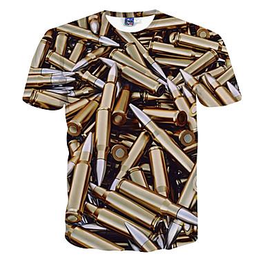 economico Abbigliamento uomo-T-shirt Per uomo Sport Con stampe Oro L / Manica corta / Taglia piccola
