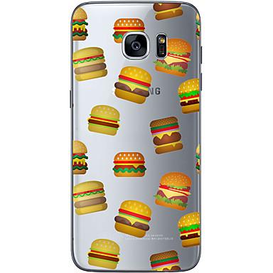 Mert Samsung Galaxy S7 Edge Minta Case Hátlap Case Egyszínű Puha TPU Samsung S7 edge / S7 / S6 edge plus / S6 edge / S6