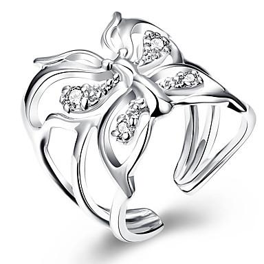 Dames Koper Ring - Dier Dierenontwerp Zilver Ring Voor Bruiloft Feest Dagelijks Causaal