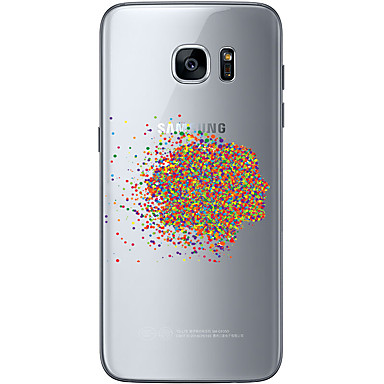 Mert Samsung Galaxy S7 Edge Minta Case Hátlap Case Virág Puha TPU Samsung S7 edge / S7 / S6 edge plus / S6 edge / S6
