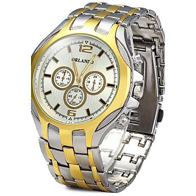 זול שעוני גברים-בגדי ריקוד גברים שעון יד קווארץ זהב מכירה חמה מגניב / אנלוגי קלסי יום יומי אופנתי שעוני שמלה - זהב שחור לבן /  לבן שנה אחת חיי סוללה / SSUO LR626