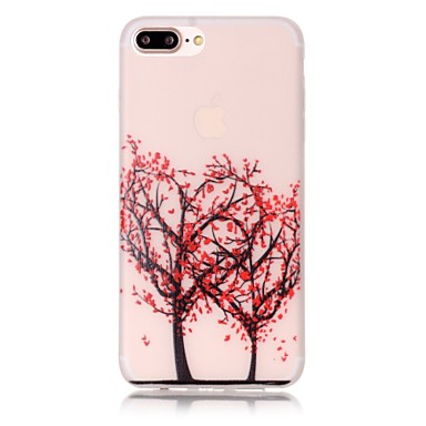 Mert iPhone 7 tok / iPhone 7 Plus tok / iPhone 6 tok Foszforeszkáló / Minta Case Hátlap Case Szív Puha TPU AppleiPhone 7 Plus / iPhone 7