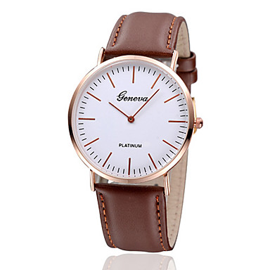 Women's Wrist Watch Casual Watch Leather Band Vintage / Minimalist / Fashion Black / Brown