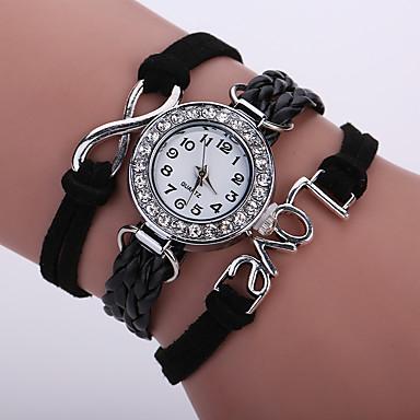 Damskie Kwarcowy Zegarek na nadgarstek / Zegarek na bransoletce sztuczna Diament PU Pasmo Błyszczące / Vintage / Na co dzień /