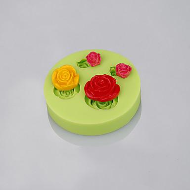 rózsa virág alakú szilikon penész penész fondant torta díszítő sütés eszközök színes random