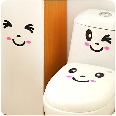 egy sor kreatív személyiség lakberendezési WC matricák