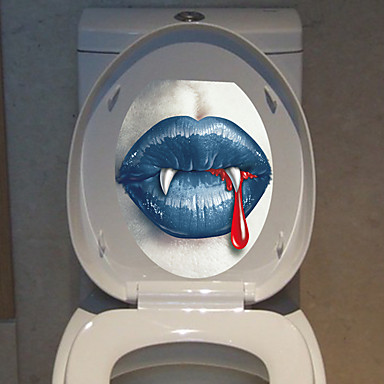 1pc osobowości twórczej wyposażenia domu 3d Hallowmas naklejki toaletowych