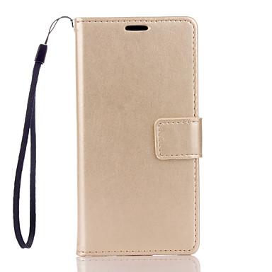 용 소니 케이스 / 엑스페리아Z5 / 엑스페리아Z3 지갑 / 카드 홀더 / 스탠드 / 플립 케이스 풀 바디 케이스 단색 하드 인조 가죽 용 Sony Sony Xperia Z5 / Sony Xperia Z3