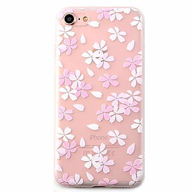 용 패턴 케이스 뒷면 커버 케이스 꽃장식 소프트 TPU Apple 아이폰 7 플러스 / 아이폰 (7) / iPhone 6s Plus/6 Plus / iPhone 6s/6