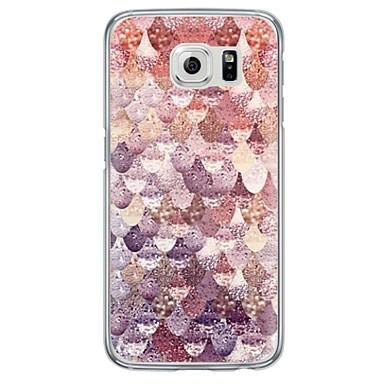 voordelige Galaxy S-serie hoesjes / covers-hoesje Voor Samsung Galaxy S7 edge / S7 / S6 edge plus Ultradun / Doorzichtig Achterkant Geometrisch patroon Zacht TPU