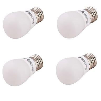 3 E26/E27 LED gömbbúrás izzók A60(A19) 6 SMD 5730 220 lm Meleg fehér Dekoratív AC 85-265 / AC 220-240 / AC 110-130 V 4 db.