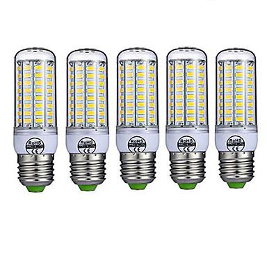 5pçs 10W 980lm E26 / E27 Lâmpadas Espiga T 72 Contas LED SMD 5730 Decorativa Branco Quente Branco Frio 220-240V