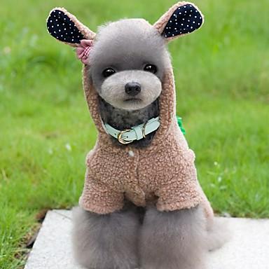 강아지 코스츔 점프 수트 강아지 의류 귀여운 코스프레 동물 그레이 브라운 핑크 코스츔 애완 동물
