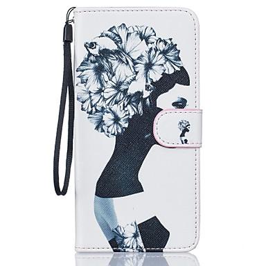 용 아이폰7케이스 / 아이폰7플러스 케이스 / 아이폰6케이스 지갑 / 카드 홀더 / 스탠드 케이스 풀 바디 케이스 섹시 레이디 하드 인조 가죽 Apple 아이폰 7 플러스 / 아이폰 (7)