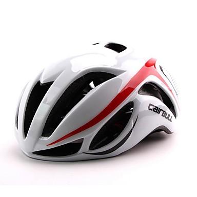 CAIRBULL 여성용 남성용 남여 공용 자전거 헬멧 17 통풍구 싸이클링 사이클링 산악 사이클링 도로 사이클링 레크리에이션 사이클링 이 외 하이킹 중간: 55-59cm; 라지: 59-63cm; PC EPS옐로우 화이트 레드 블랙 블루 라이트