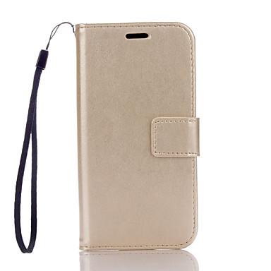 Mert Samsung Galaxy tok Pénztárca / Kártyatartó / Állvánnyal / Flip Case Teljes védelem Case Egyszínű Kemény Műbőr SamsungA5(2016) /