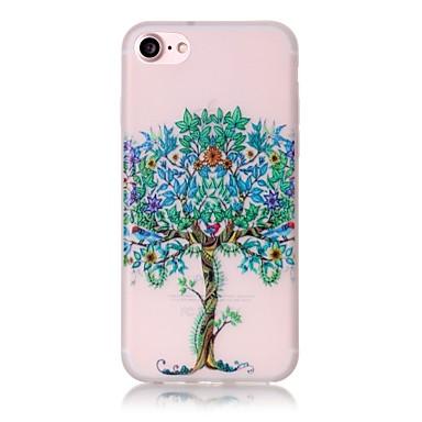Kılıf Na Apple iPhone 6 iPhone 7 Plus iPhone 7 Etui na karty Świecące w ciemności Wzór Pełne etui Drzewo Twarde TPU na iPhone 7 Plus
