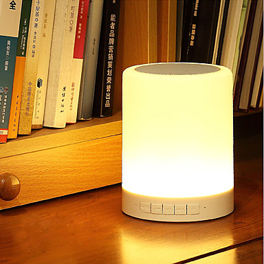 jiawen intelligens vezeték nélküli Bluetooth 4.0 hangszóró zene led asztali lámpa DC 5V zenelejátszó szabályozható nightlight