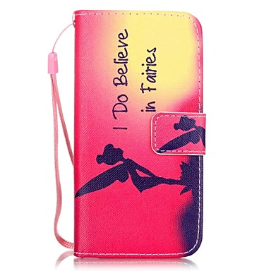 voordelige iPhone-hoesjes-hoesje Voor Apple iPhone 8 Plus / iPhone 8 / iPhone 7 Plus Kaarthouder / Patroon Volledig hoesje Sexy dame Hard PU-nahka