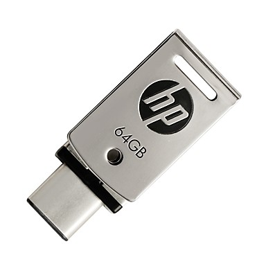 HP 64 GB-os USB 3.1 flash-dirve típus-c X5000 fém