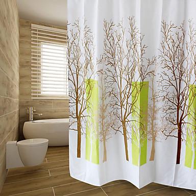 Zasłony prysznicowe Nowoczesny PEVA Kwiatowy/roślinny Machine Made