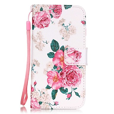 Case For Apple iPhone 7 / iPhone 7 Plus / iPhone 6 Card Holder / Pattern Full Body Cases Flower Hard PU Leather for iPhone 7 Plus / iPhone 7 / iPhone 6s Plus