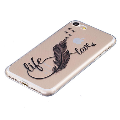 iPhone 8 Fantasia disegno Transparente Plus Custodia Apple 7 8 per 8 iPhone rilievo in Decorazioni X Morbido Per iPhone iPhone Piume iPhone X retro iPhone TPU Per 05267536 FFqO7Bw