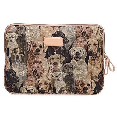 cão bonito projeto de 13,3 / 14 / 15,6 polegadas laptop manga caso bolsa de lona ultrabook para macbook Lenovo dell
